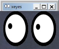 xeyes is displaying