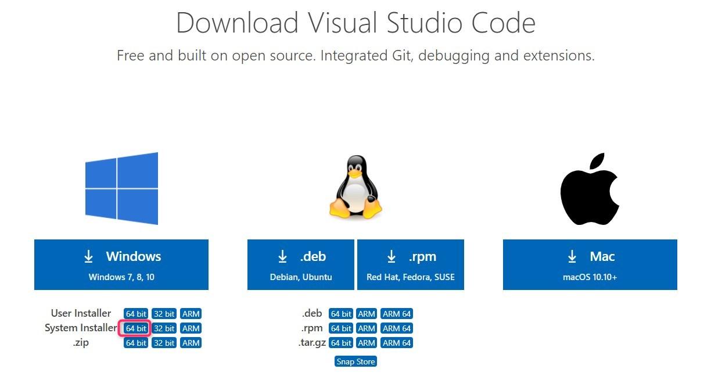 download vscode installer step2