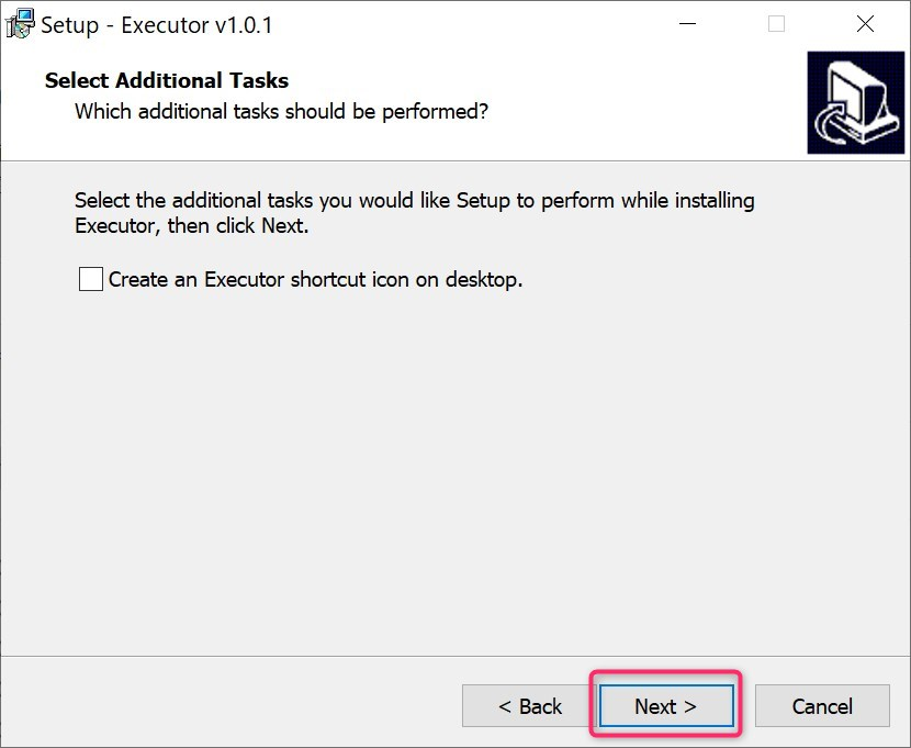 select additional task in executor install